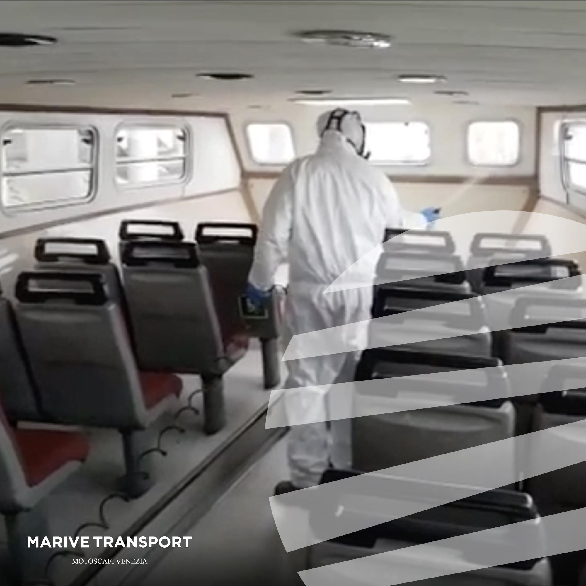 Sanificazione dei motoscafi Marive