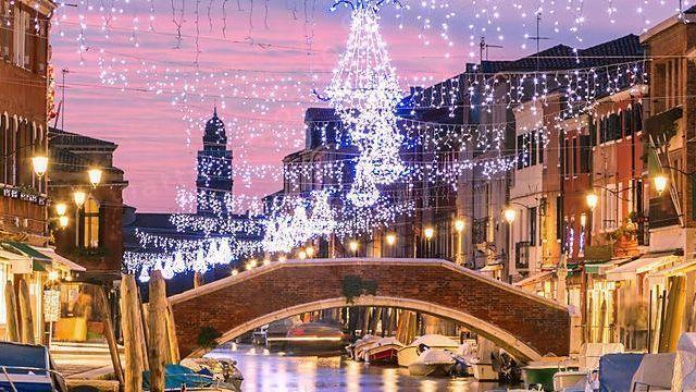 Albero di Natale digitale a Venezia