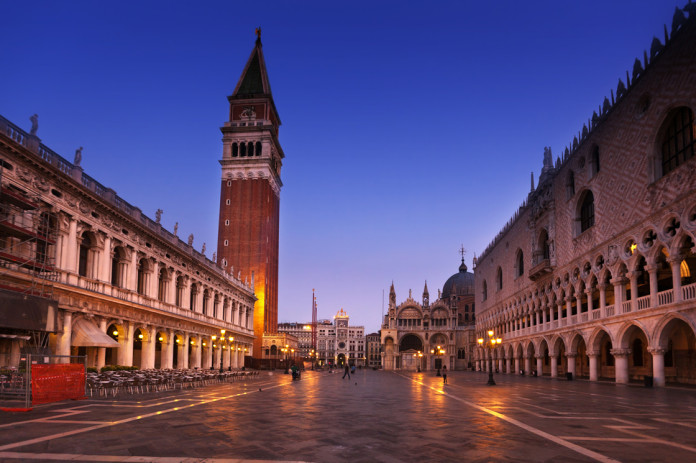 The remains of the Bell tower of Piazza San Marco have been found